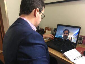 Reunião com Rodrigo Maia (então presidente da Câmara dos Deputados)